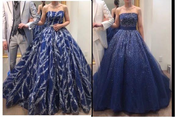 相談させて下さい。 ドレス選びにおいて青が好きなので 青ドレスを選択しました。 アクアグラツィエ系列。 アンテプリマ等からしか選べなくて 持ち込み不可でへこんでいます。 桂由美やキヨコハタが...
