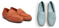 左右どちらの色の方がレア色でしょうか? J.M.ウエストンのルモックというモデルのカジュアルローファーなのですが左よ右ではどちらがよりレアな色目でしょうか?どうせなら、なかなかない色が欲しいです!勿論右は春夏に、左は秋冬に合わせるつもりです!