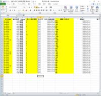 エクセルのデータを抽出したい。 マクロでも関数でもいいのですが、列に入っているデータを別のエクセルシートに取り出したいのですが、マクロもべん勉強中でうまくできません・・・。 画像の色が塗ってあるところのデータだけそのまま取り出したいです。 どうかこの私にご教授願います。