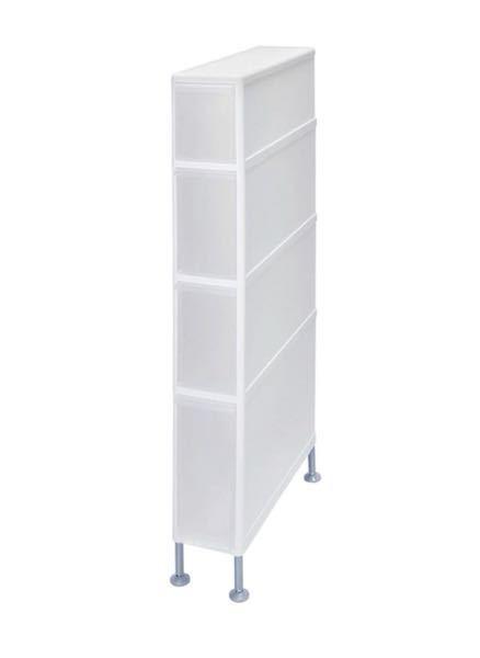 洗濯機横の隙間収納を探しています。 タイプ: 引き出し収納 高 さ: 80cm程度 奥行き: 60cm程度 横 幅: 10cm〜12cm 質 感: プラスチック系(特に希望はなし) 上記のサ...