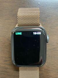 Apple Watchについて WatchからLINEのメッセージの確認や送信など出来なくなってしまいました。  画像のような状態です。  最近までLINEのメッセージの確認を Watchからしてました。  どうすれば正しく表示される...