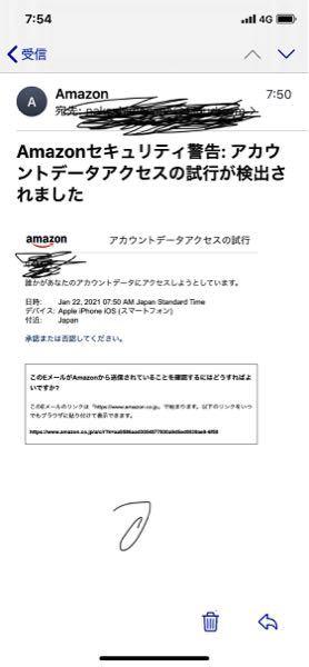 Amazonのアカウントログインしようとしたらこの様なメールが送られて来ました。どうしたら良いですか?