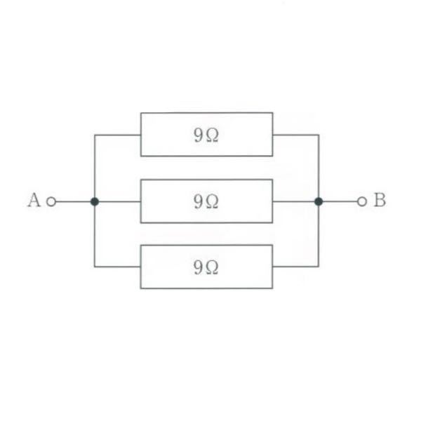 工学の問題について 回路の図を別に示す。端子 AB に 6V の電圧を 10 秒間加えたときに発生する熱量[J]はいくつか。 解説とともにお願いします。