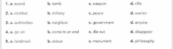 英語の問題です。a〜dのうち他3つと異なるものをえらべという問いです。 3番わからないです。。教えて頂きたいです