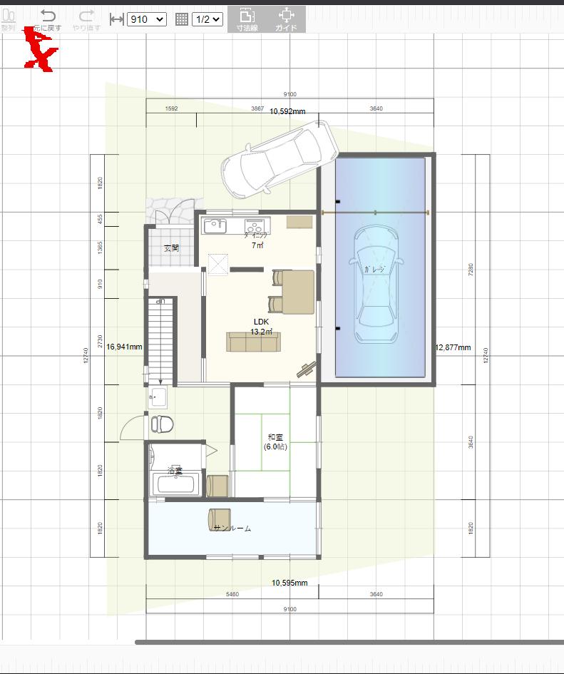 間取り相談続きです。一坪ユニットバスを一階15坪に入れるにしても、サンルーム増築するにしても、ガス乾燥機の置き場所がありません。 お風呂とトイレは自然換気ができる窓がある壁際で、おトイレしてパン...