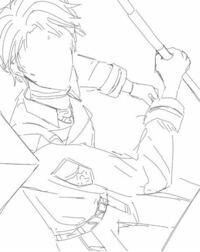 イラスト評価 イラスト チ100 腕の位置おかしくないですか??? 人体絵描き始めて10ヶ月くらいになります。今まで平面絵を中心に書いてきてたのですが漫画を書きたいと思い始め、構図を研究しています。 これは上から見た感じで敵をガ!!!とやりたいようなイラストの下絵なんですが、服をつけたり、書けば書くほどどんどん崩れていきます。 人体の構造、服の形や素材を理解すれば書けると友人には言われたりし...
