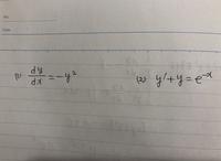 微分方程式を教えてください。 次の2問の微分方程式の一般解がわかりません。 どなたか教えて頂けないでしょうか。