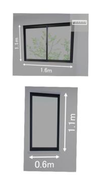 この窓のサイズにあうカーテンが欲しいんですが、このサイズはオーダーじゃなくてもありますか?どう調べたらいいかも分からなくて困ってます