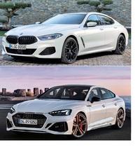 4ドアクーペの中のBMW 840i M Sport グランクーペとAudi RS5 スポーツバックをデザイン、性能、運転しがい、リセール等を比較した場合、 どちらが良いと思いますか? 理由も合わせて教えて頂ければと思います。  車格的にはBMW 8シリーズですと、Audi A7シリーズとの比較になりますが、個人的にA7デザインがあまり好きではなく、A5シリーズの方がAudiらしいと思っていま...