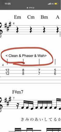 エレキギターのTAB譜のこれどういう意味ですか?