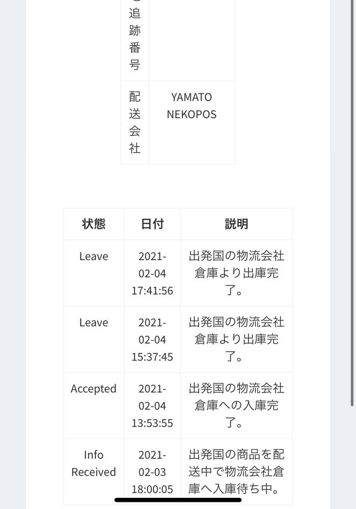 qoo10で韓国のショップから2点コスメを購入したのですが、ずっと動かないんですけどあと何日で来るか教えて欲しいです。