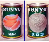 メロンの缶詰を買いたいのですが、画像のブランドメーカーのメロンは高いのでもう少し安いメロンの缶詰を購入したいと考えております。 ・ ここで質問です。  比較的安めの価格帯のメロンの缶詰をご存じでしたら、教えていただければと思います。