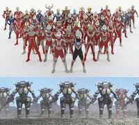 歴代のウルトラマン達(初代マンからZまで)vsキングジョーブラック軍団!!どっちが勝ちますか!?