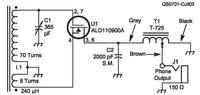 FET鉱石ラジオについて 下記の回路は海外のサイトに出ている FETを使った鉱石ラジオ ですが、通常のゲルマニウムダイオードを使う回路よりも高感度だそうです。  その理由について、FETのダイオード部分で生じた...