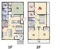 家のWi-fi環境の改善方法 ルーターの買い替えを考えております。現在1Fの赤丸部分にルーターがあります。 この状態で1Fのお風呂と2FのAの部屋がとにかく電波が悪いです。 スマホだとWi-fiが切れて自動で4Gに切り替わってしまいます。  この度Aの部屋を使っていないので仕事部屋としてパソコンを置いて作業することにしました。 そこでこの電波の悪さを改善したいです。とりあえずルーターが古いの...