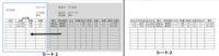 エクセルで発注書を作成しています。 使い勝手がよくありません。①②③アドバイスをお願いします。 注文書テンプレートは決まっています。 ・シート1の灰色部分に発注品リストからコピペ又は入力できるようにしています。入力された情報を左の注文書に反映されるようにしています。 ・シート2は共有リストに注文した内容を入力するのですが、別のリストに再度入力するのは手間なのでシート1からひっぱってきて共有リ...