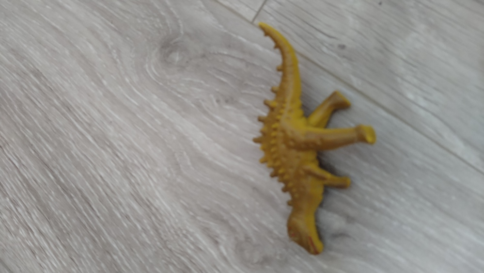 この恐竜の種類は何かわかる方いますでしょうか? 息子のお気に入りなのですが、名前が分かりません。 よろしくお願い致します。