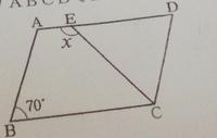 中学数学です。 途中式をふまえてお願い致します!   ∠X 、∠Yの大きさを求めなさい。  (3)は 平行四辺形ABCDでDE=DCの時 です。 よろしくお願い致します