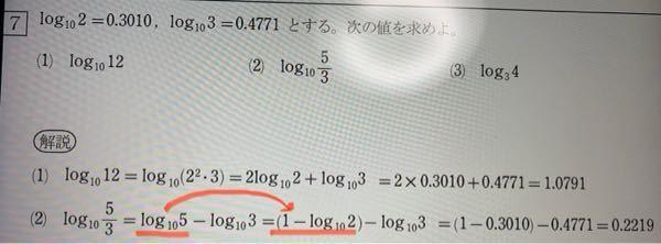 数II対数関数の質問です。どうしてこうなるのですか?