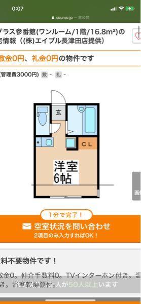 賃貸の物件探しで廊下を含めて何帖って表示しているとかありますか?この画像のこの家が6帖の割にかなり小さく見えるのですが廊下も含めてなのでしょうか? それとも形とかの問題で狭く感じるだけでしょうか? 6