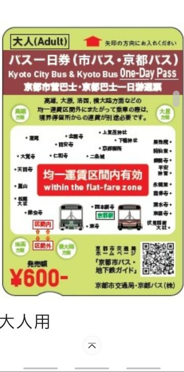 こちらの市バス・京都バス1日乗車券を利用したいと考えています。 使い方を調べたところ、均一運賃区間内を走るバスは降車時に初回は機械に通し、2回目以降は運転手の方に日付を見せるとありました。 ...
