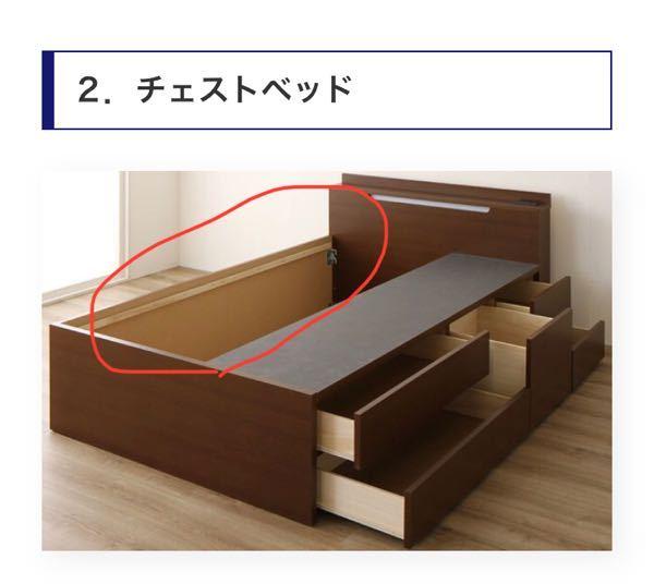チェストベッドの奥の部分(赤で丸しているところ)に使わないものをしまうのは湿気などの面から見てやめた方が良いでしょうか?