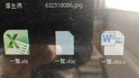 オフィス2010です。 ワードの文章ですが、拡張子がdocxの場合は、ワードの絵の模様のファイルですが、 docの場合は、絵になりません。 エクセルでは、拡張子がxlsxでもxlsでも、エクセルの絵の模様のファイルになっています。 ワードの場合は、docの場合、絵にならないのでしょうか?