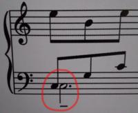 ピアノ楽譜について この、赤い線で囲った部分は、どうやって弾けばいいですか?