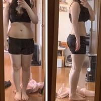 鏡汚くてすみません、、 身長155cm 体重何キロに見えますか? 筋肉をつけて痩せた方がいいですかね