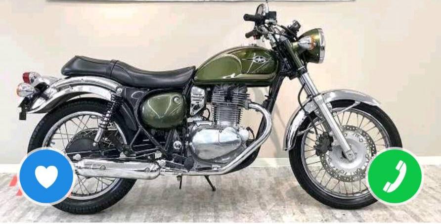 バイクに詳しい方教えて下さい! 125ccまでで、クラシックな見た目のオールドルック?ぽいバイクって車種的に良い感じのってありますか? 個人的にスタイリッシュな形のやつや、スポーツタイプ、ハイテク感ある形より長方形に1つ目って感じの古臭いイカつい見た目が好きなのですが、中型にはいっぱい見つけれましたが小型となるとなかなか出てこず。。。 中型ですが、エストレヤという車種が見た目はとてつもなく好みで大好きです。 今見つけた中ではSUZUKI GZ125HSという小型バイクが最も近いですが、やっぱりまだスタイリッシュぽいなと わがまま放題って感じはしますがずっと乗るつもりなので拘りたいです 有識者の方よろしくお願いします! 理想バチバチ100点満点ですが中型なエストレヤの画像だけ貼っておきます