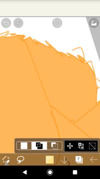 アイビスペイントで塗りつぶしをすると変な線が入ります。消す方法はありますか?
