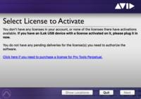昨日、Pro Toolsの一年契約月払いサブスプリクションを購入しました。 Avidのアカウントとi Lokのアカウントを両方作り i Lok License Managerもダウンロードしました。  Avidのアカウントとi lokもリンク済みになっています。    でも iLok License Managerには Pro Toolsのライセンスなど一切現れず  Pro Tool...
