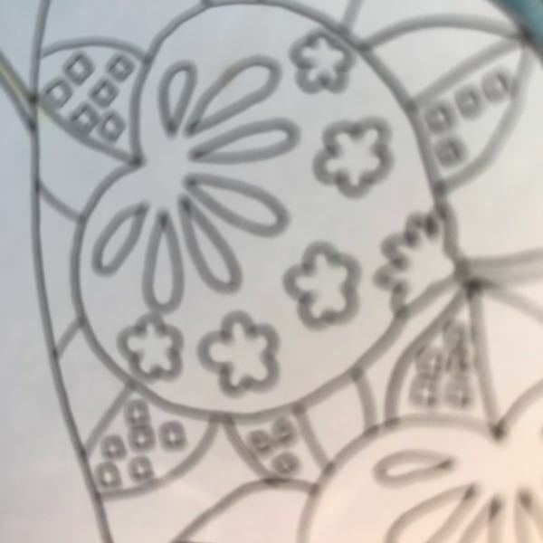 和柄の塗り絵なんですけど これって何でしょうか?ほおずきですか?