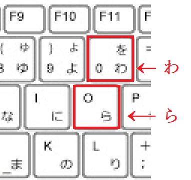 キーボードで、ゼロとオーを押し間違えた時、「わ」「ら」( ´∀` )と書かれているのは、何かの嫌がらせですか?