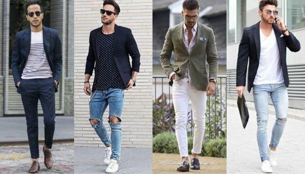 このようなファッションが好きでテーラードジャケットを買おうと思うのですが、おすすめのブランドはありますか?価格帯は35000円くらいまでを目安に考えています。