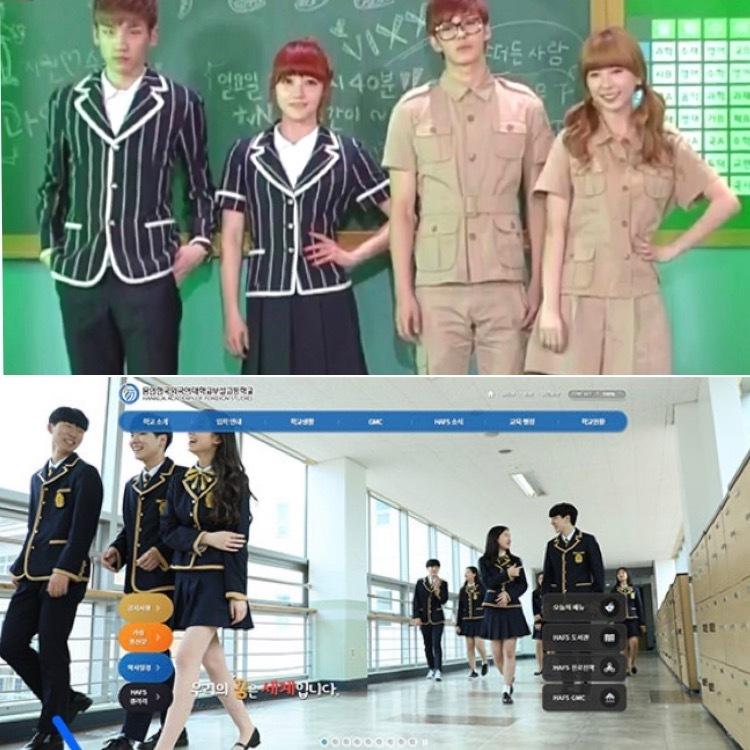 韓国のヨンイン韓国外国語大学附属高等学校について質問です。 制服が変わったと聞いたのですが、現在は写真のどちらですか? 知っている方、ご回答よろしくお願いします。 写真見づらいかもしれません。すいません。
