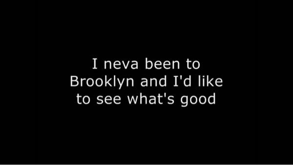 """写真の訳で、ブルックリンには行ったことないからどんな感じかみてみたいのって確か書いてあったんですけど、 """"What's good""""の部分を調べても「どんな感じか」って書いてなかったんですけど…ど..."""