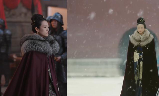 中国歴史ドラマで画像のように女性が毛皮の付いたマントを着ているのが それぞれ別作品なのにありました。これって中国ドラマでは、よくあるのですか? このようなマントを着た女性が出てくる作品はほかにもありませんか? ちなみに画像のは 大明风华(大明皇妃)と、上阳赋です。