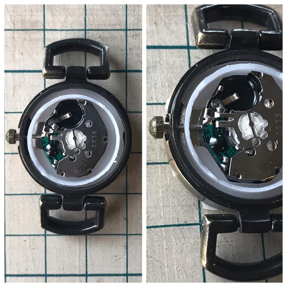 腕時計のリューズの外し方を教えていただけないでしょうか? ネットで調べるとオシドリという所を押しながら引っ張るのかな? と思ったのですが、どれがオシドリなのかがわかりません。。 何卒よろしくお願いいたします。