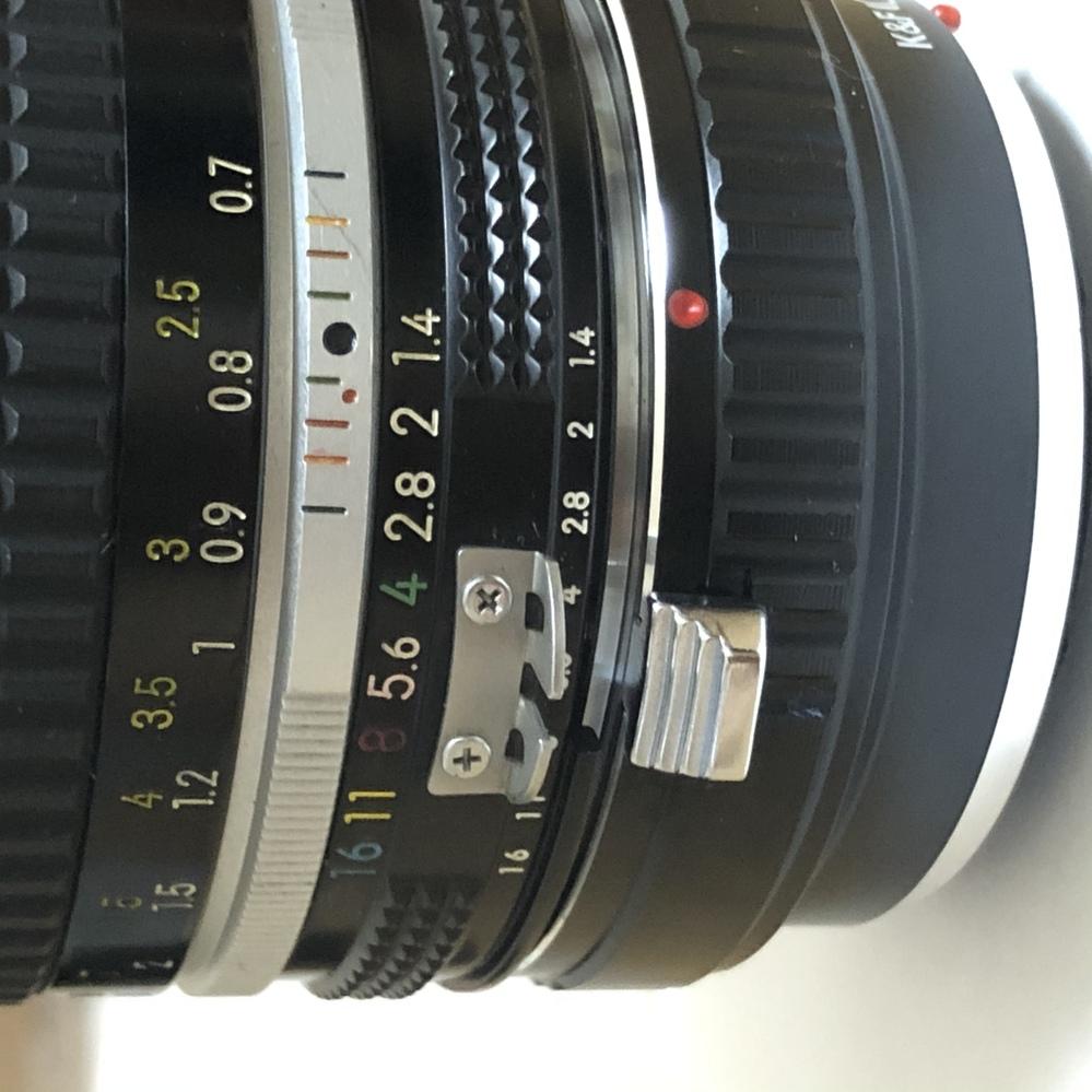Ai Nikkor 50mm f1.4のオールドレンズをOLYMPUSのミラーレスにつけたくて、 AmazonでK&f conceptのnikon fマウントレンズ→マイクロフォーサーズ...