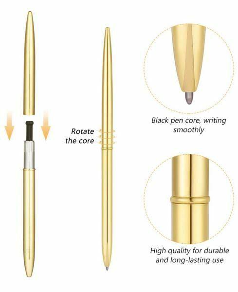 ボールペンの替芯にお詳しい方、どうか回答お願い致します。 (内容が難しいので、お礼のコインは500です。) 手元にメーカー不明のボールペンがあるのですが、芯にも型番がない為、替芯がとても難しいです。 精密ノギスで測ってみたところ、軸の太さは2.2、長さは13.1でした。 本体をひねると芯が出てくるタイプのもので、画像の黒い部分はネジのようになっており、芯を黒いものに入れて本体に入れ、回...