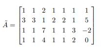 50コインです 未知数がx1∼x6で,次の行列が拡大係数行列である連立一次方程式の解を,x2,x5 を任意の実数として表した時の x1,x3,x4,x6を教えてください