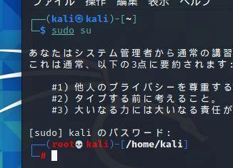 Kali Linux を使っていらっしゃる方に質問です。 先程インストールし終えたところなのですが、ターミナルの写真の部分ってこんなんでしたっけ?w Kali@kali root@kali じゃありませんでしたっけ?