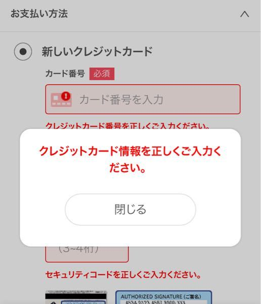 ebook JapanでPayPayで支払いできるようにしてあるんですけど何故かクレジットカード情報を正しくご入力してくださいとでてきます。何故ですか??