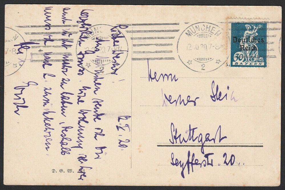 eBayで入手した葉書です。なんと書いてあるか知りたいです。ドイツ語の筆記体が読めません。よろしくお願いします。