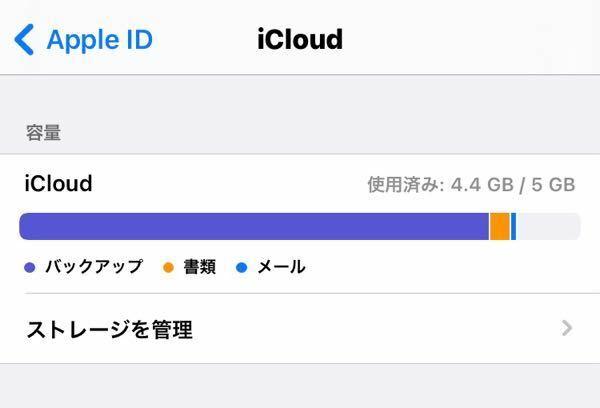 これはどういう状況ですか。 このバックアップというものを減らしてiCloud容量空けたいのですがどうしたらいいですか?
