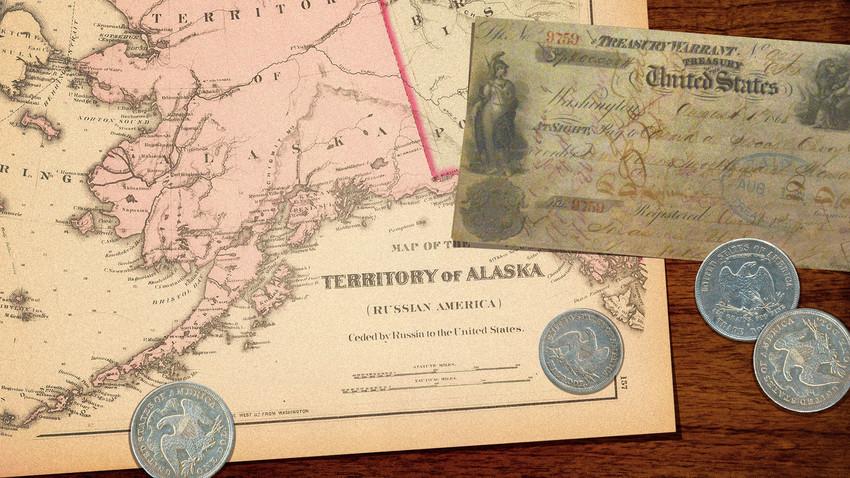 アメリカのアラスカ購入は世界一安い買い物だったのですか? ロシアは悔しがった? . 19世紀に、ロシアが財政難なおりに、寒冷すぎてろくに移住も難しかったアラスカをアメリカへ売却したと聞きました。 しかし、後に金鉱脈が発見されたり、石油を産出できることが分かり、それによってアメリカは購入金額とは比べ物にならないほどの利益を得ることが出来た。 そのために、アメリカのアラスカ購入は『世界一安い買い物』だったとさえ語り継がれているのだと? そのために、後にロシア(ソ連)は内心では相当に悔しがっていたとも。 どうなのでしょう、これって真実なのでしょうか? それとも、誇張された話なのですかね? 背景などもう少し詳しく知りたいです、ぜひ皆様のご意見をお聞かせください。