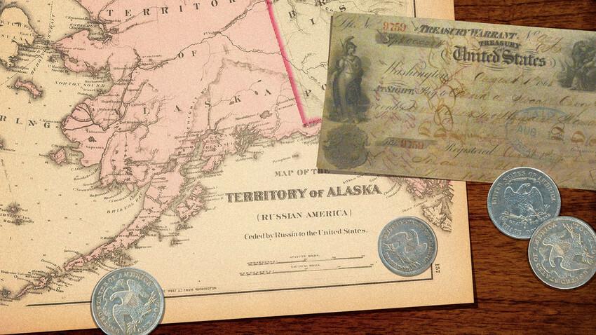 アメリカのアラスカ購入は世界一安い買い物だったのですか? ロシアは悔しがった? . 19世紀に、ロシアが財政難なおりに、寒冷すぎてろくに移住も難しかったアラスカをアメリカへ売却したと聞きました。 しかし、後に金鉱脈が発見されたり、石油を産出できることが分かり、それによってアメリカは購入金額とは比べ物にならないほどの利益を得ることが出来た。 そのために、アメリカのアラスカ購入は『世界一安い買...