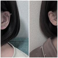 彼女の耳にこのくらいピアスが空いていたら嫌ですか?
