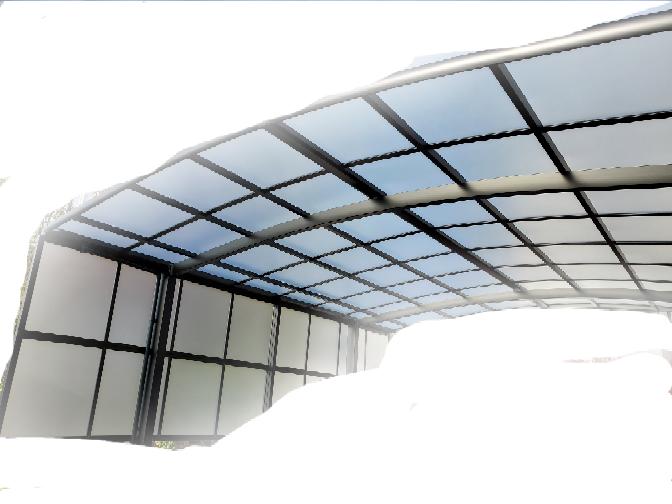 カーポートネスカR インターネットのエクステリア業者にて カーポートを施工しました。 屋根材、サイドパネルとも熱線吸収ポリカーボネート(クリアマットS.すりガラス調)です。 施工後見ると明らかに屋根材は青みがかかって サイドパネルは青みがありません。 写メを送りましたが色は一緒だといいます。光の加減だと。 業者は 伝票確認しましたがどちらも同じ素材です。の一点張り。 皆さんどう思いますか? ...